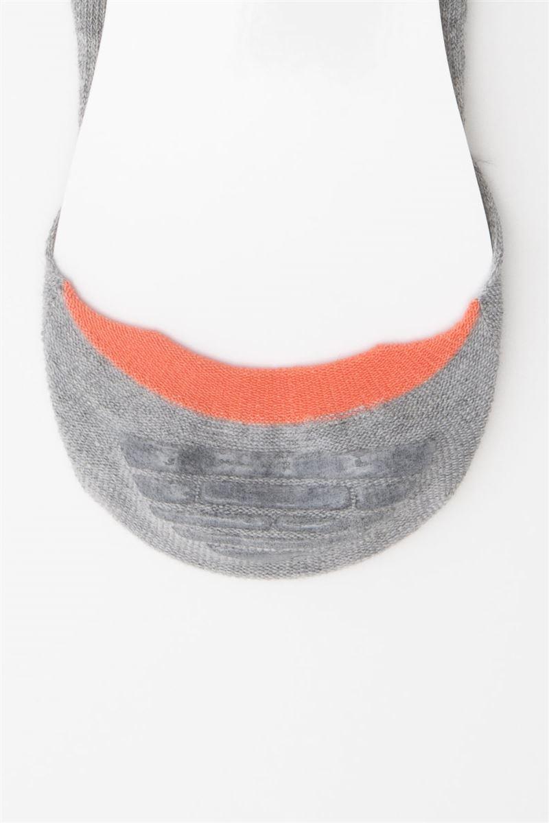 HAPPYスマイル刺繍綿混深履きカバーソックス
