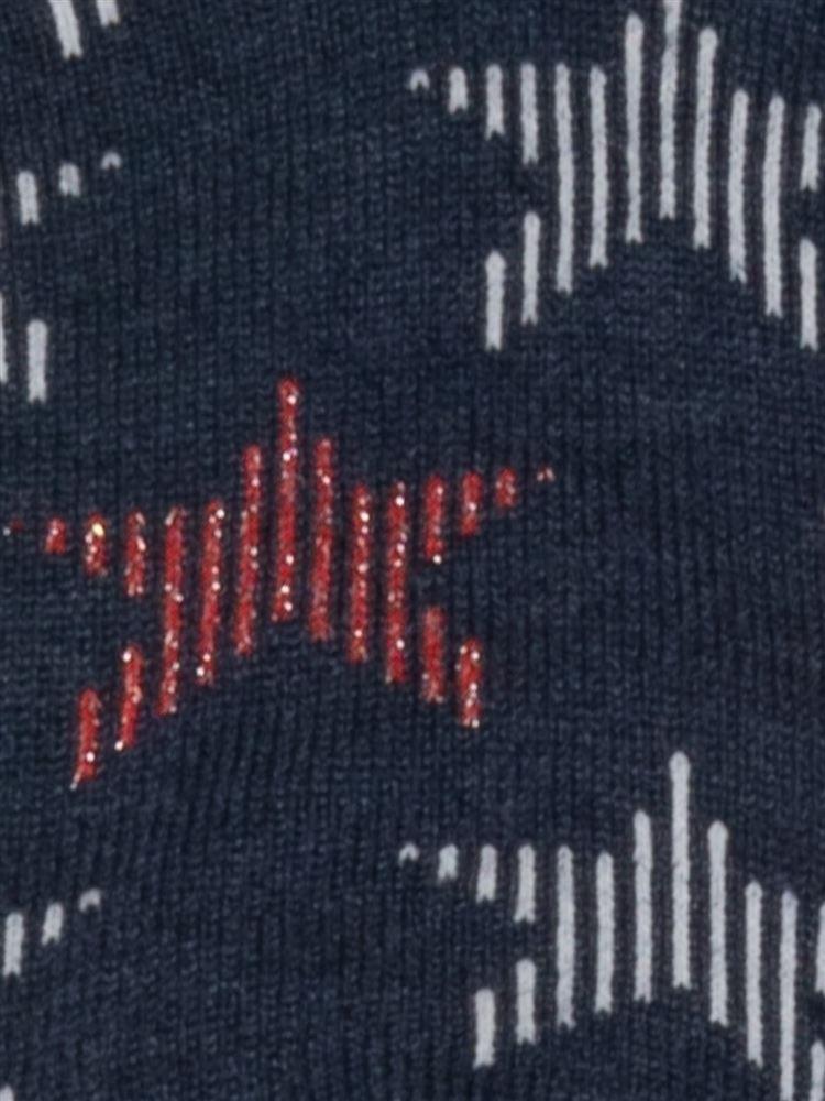 [キッズ]ラメ星柄綿混くるぶしソックス