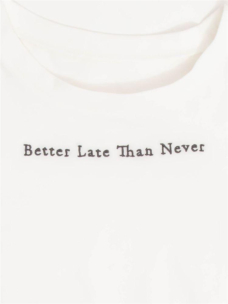 綿天竺小さいロゴ刺繍Tシャツ
