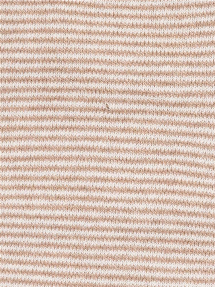 綿レーヨンシルクボーダー5本指ソックス13cm丈