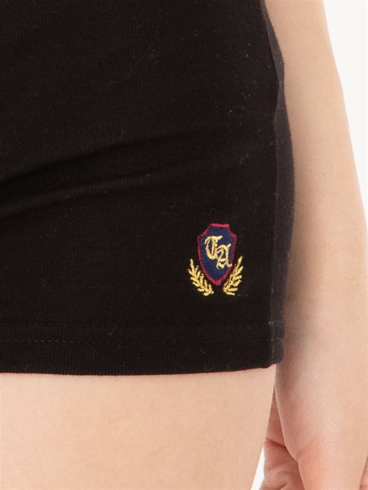 エンブレム刺繍マイクロミニレギンス