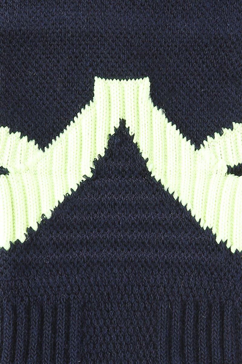 [スポーツ]踵着圧色切替5本指ソックス9cm丈