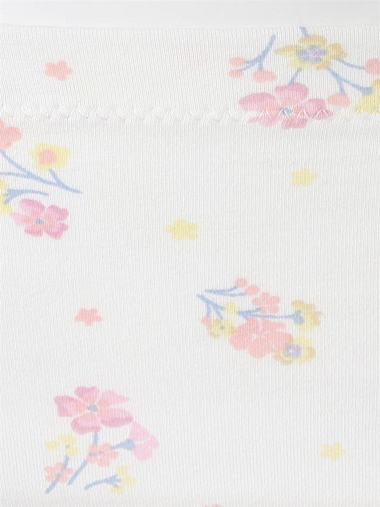 サニタリー綿混花柄フルショーツ