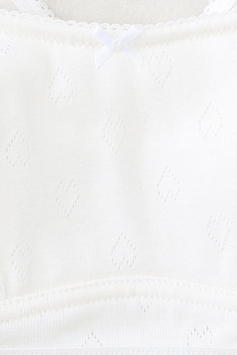 [tutuプチ]STEP2・ジュニア用ハーフトップ(広幅ストラップ・白)