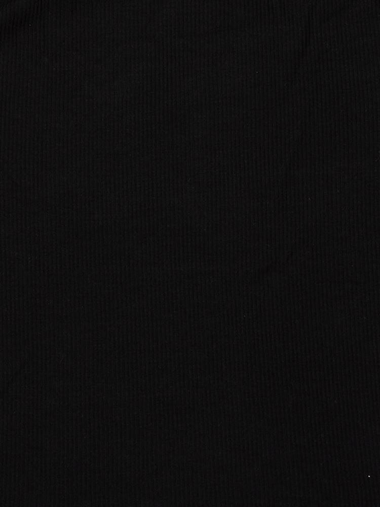 tutu heatリブレーススクエアネック8分袖