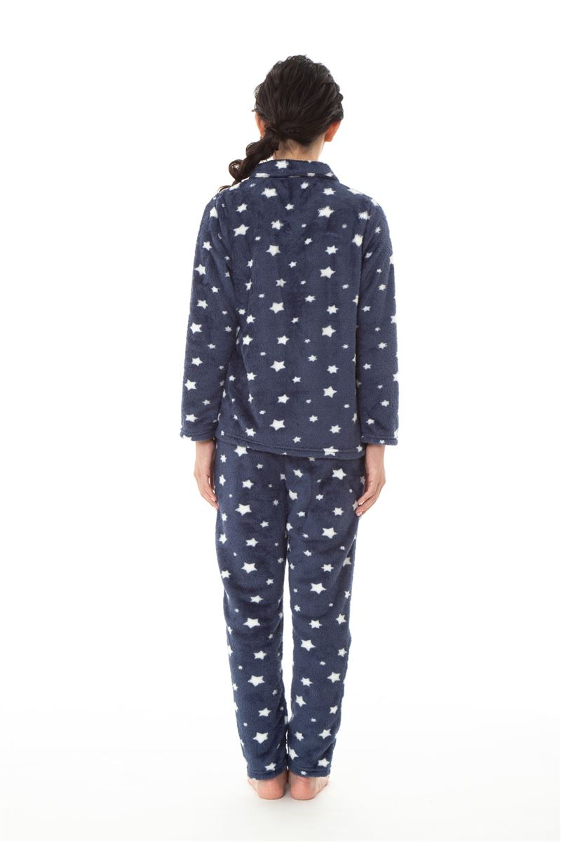 星柄薄手ボア星柄パジャマ