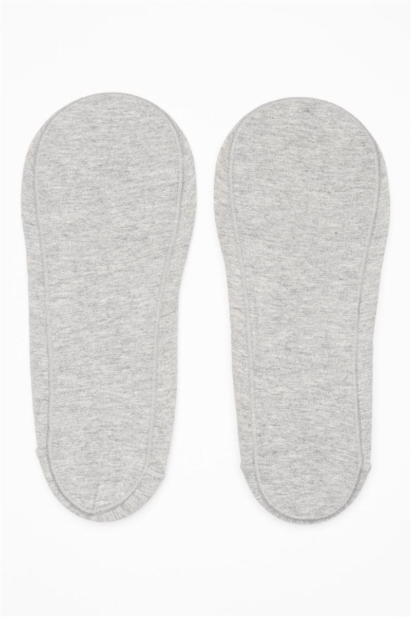 [かかとピタッと]綿混浅履きカバーソックス