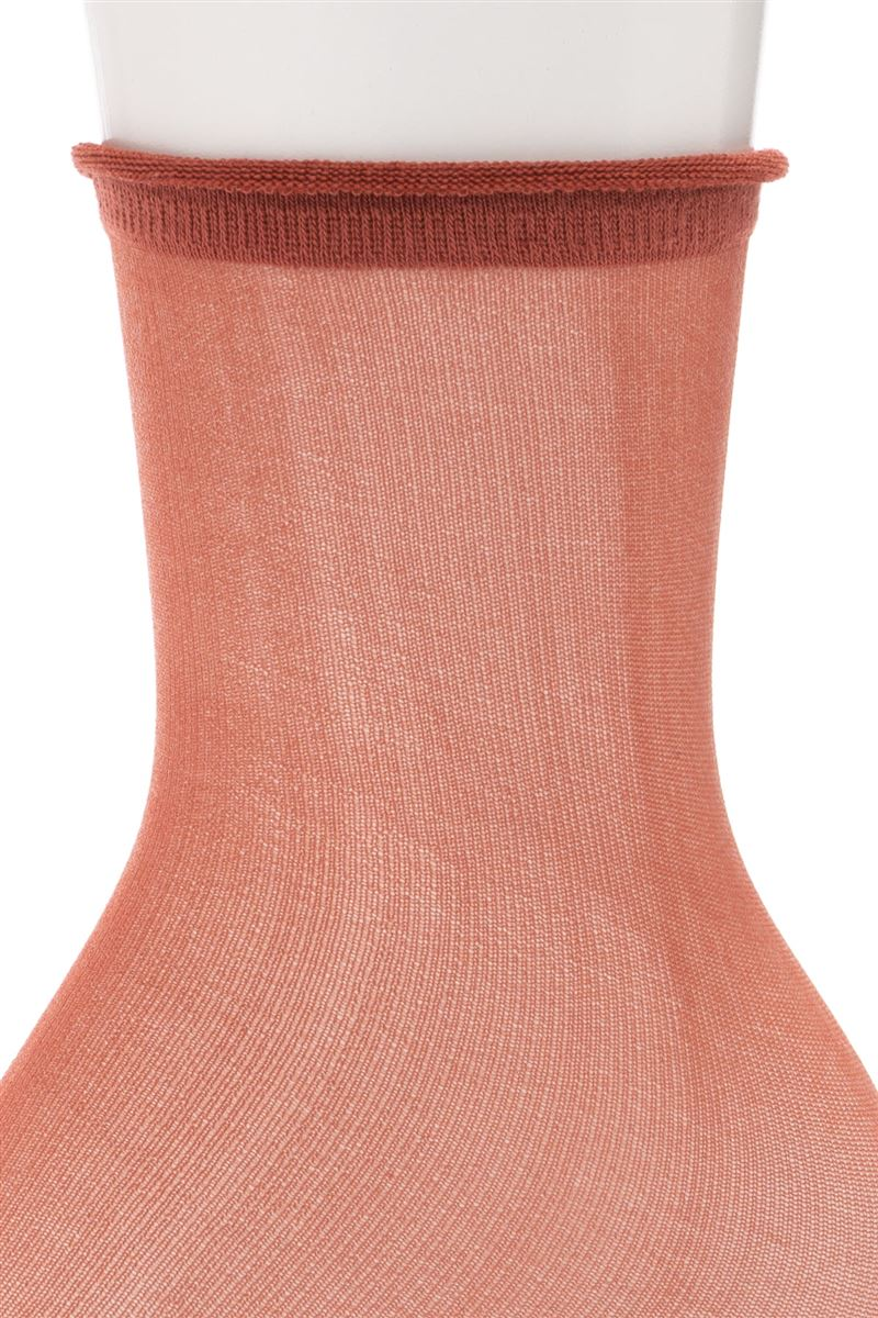 [レディライン]カラーオールシースルー口くるソックス17cm丈