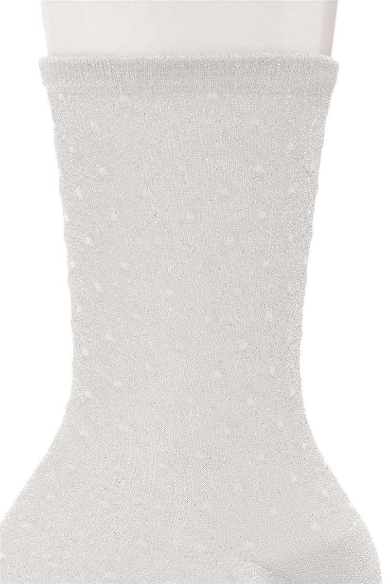 ピンドットラメシースルーソックス18cm丈