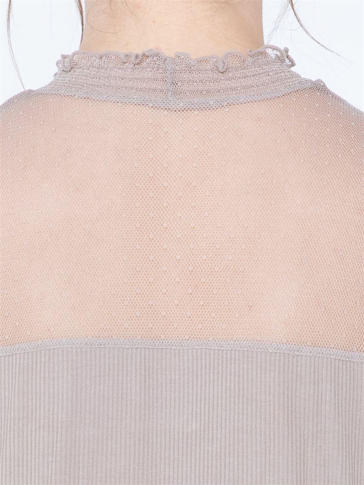 tutu heatリブチュールハイネック長袖
