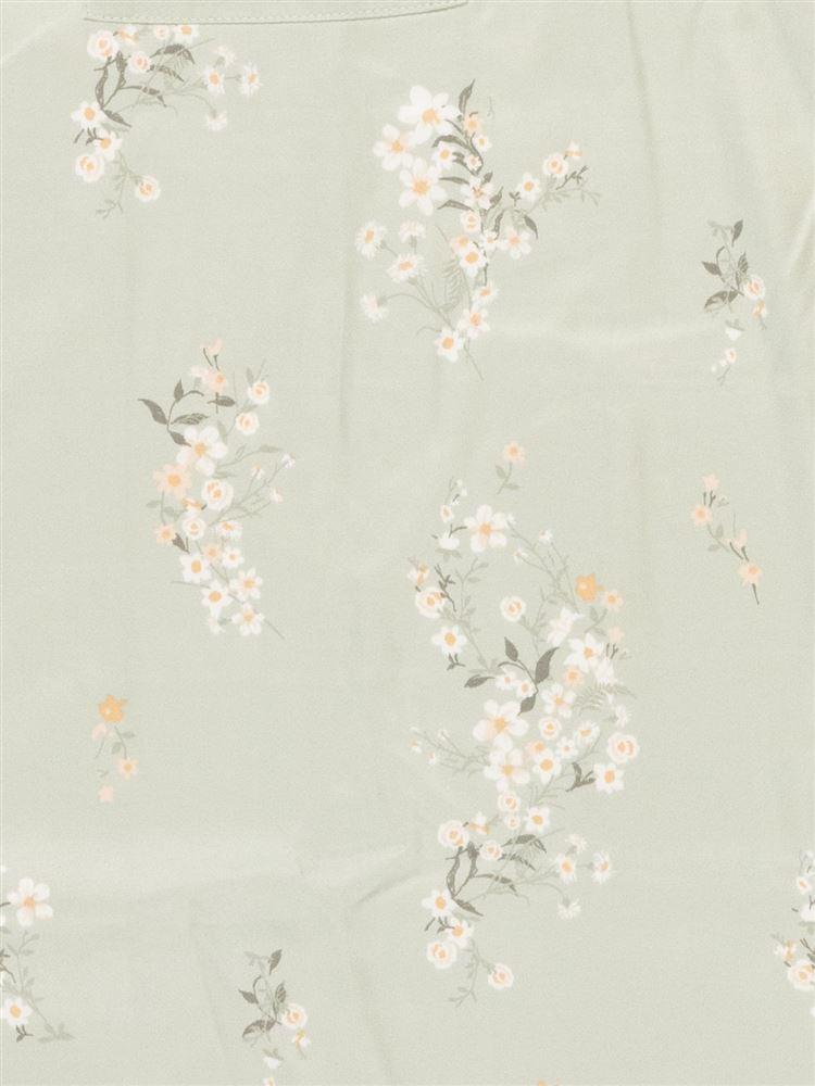 花柄サテンパジャマ