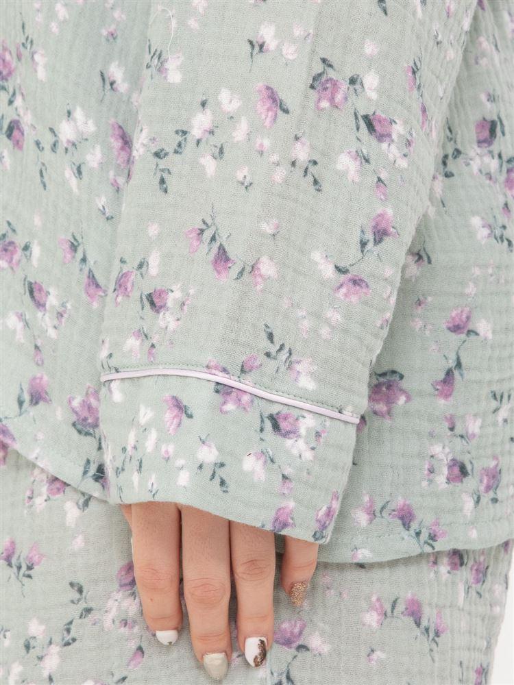 花柄Wガーゼパジャマ