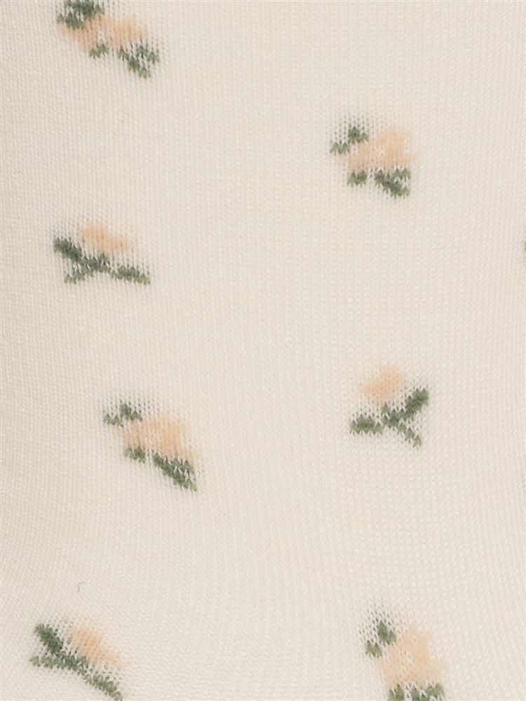 【橋下美好オリジナル】小花柄ソックス12.5cm丈