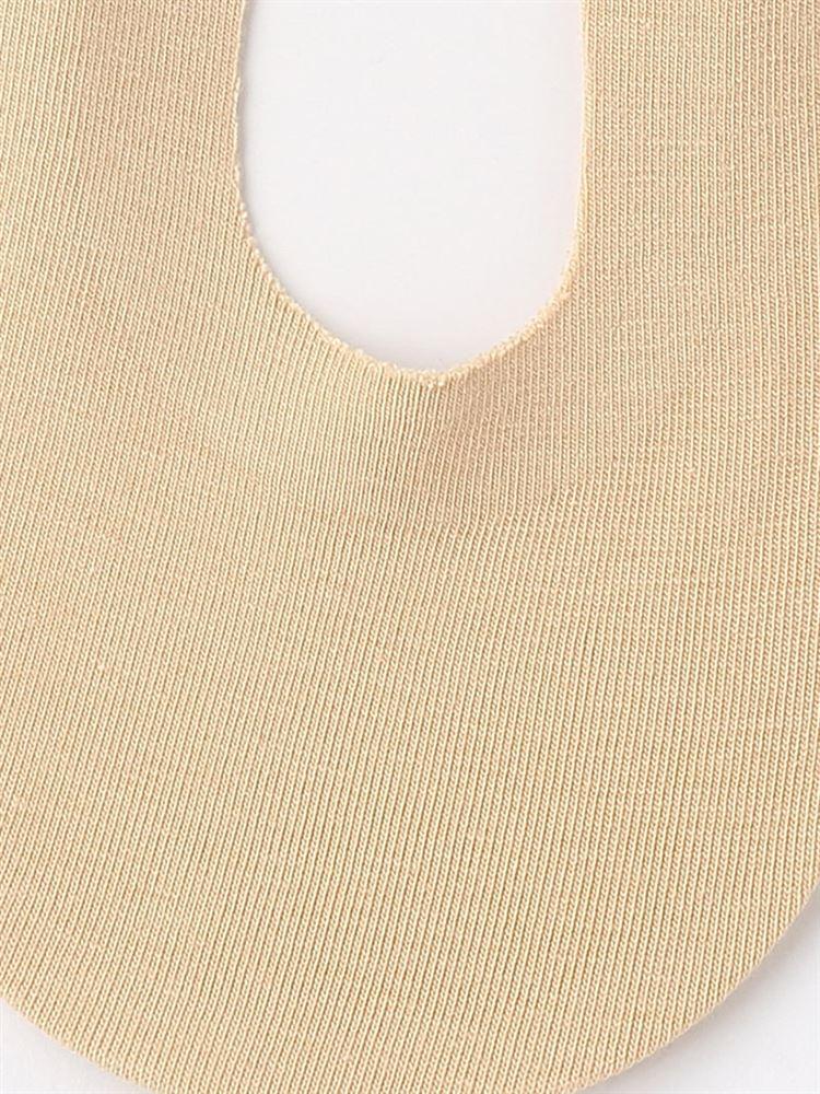 立体縫製綿混滑り止め付き無地深カバーソックス