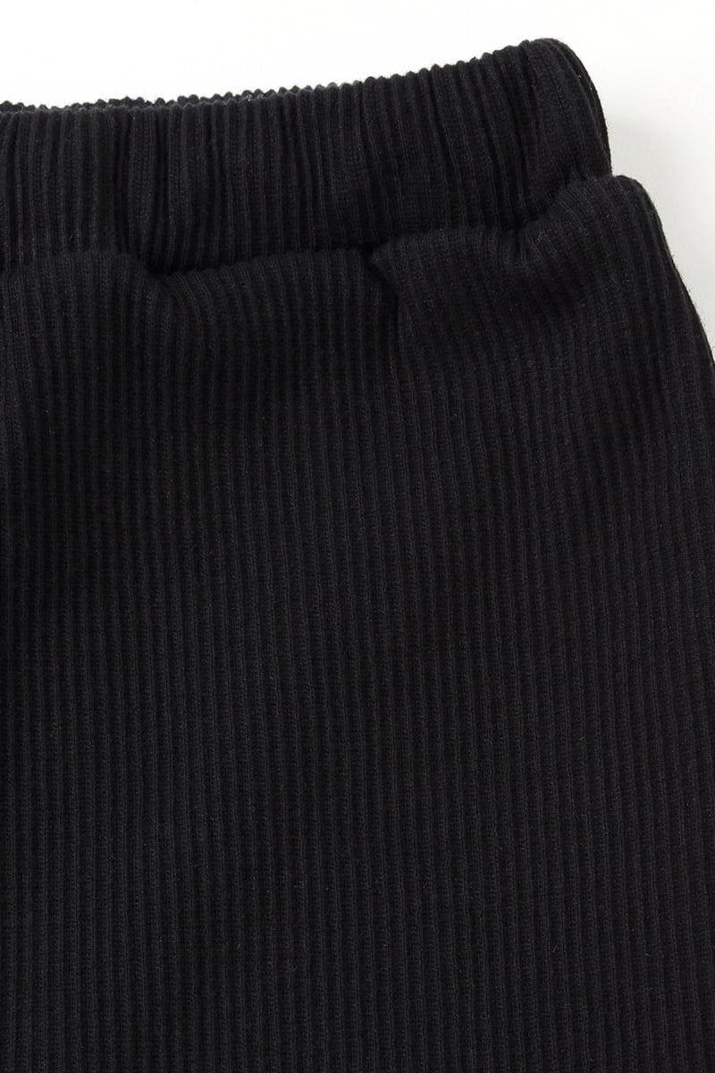 綿混裾メローワイドリブレギンス10分丈