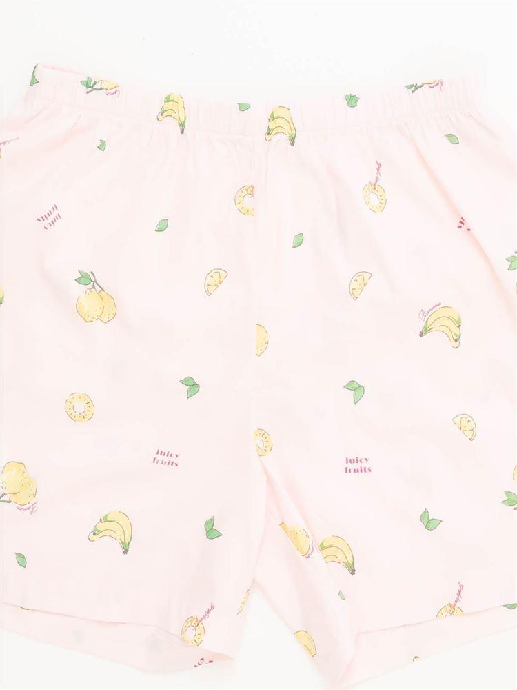 フルーツ柄レーヨン布帛パジャマ