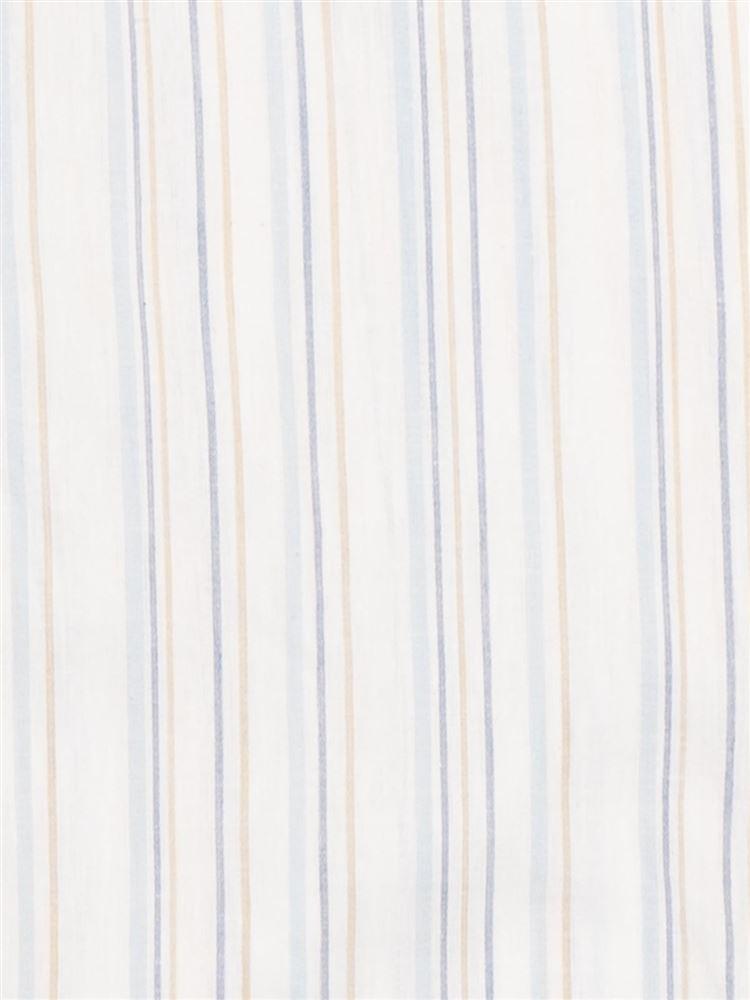 ストライプ柄綿麻布帛ワンピース