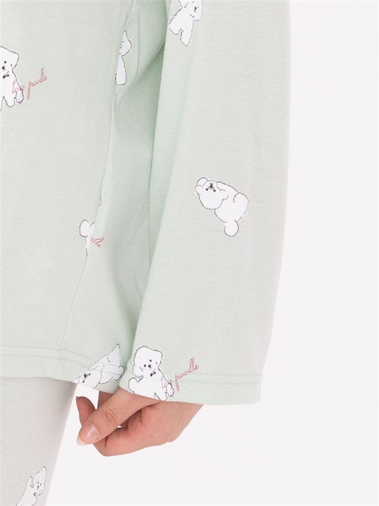 トイプードル柄薄手スムースパジャマ