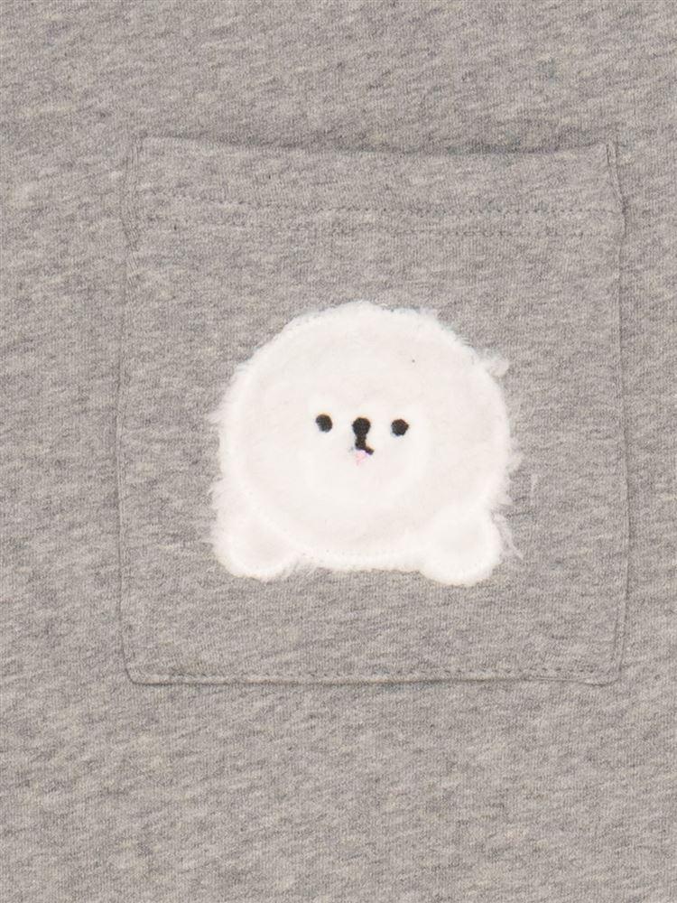 [tutu home]ストレッチ裏毛ビションフリーゼプルオーバー