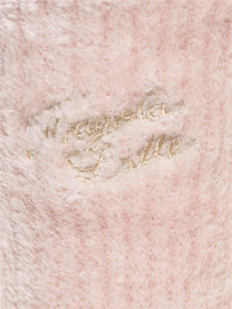 光沢モールロゴ刺繍リブルームソックス18cm丈