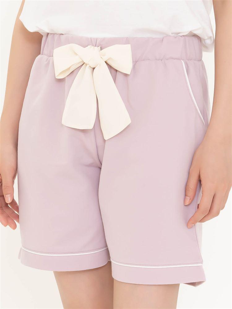 ◆【橋下美好オリジナル】裏毛リボン付きショートパンツ