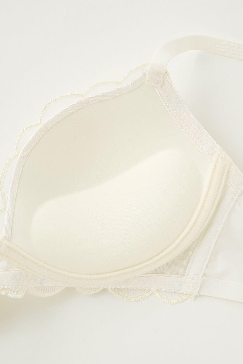 [ナチュラル・すっぴんメイクブラ]マルチ刺繍ノンワイヤーブラ