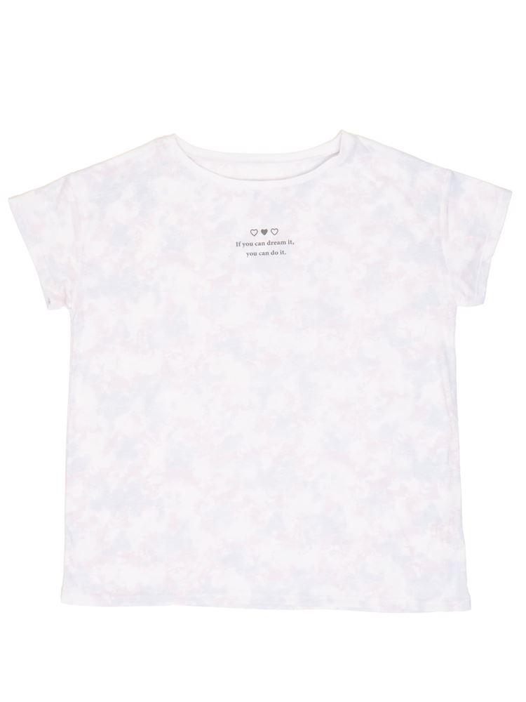 タイダイ柄ドロップショルダーTシャツ