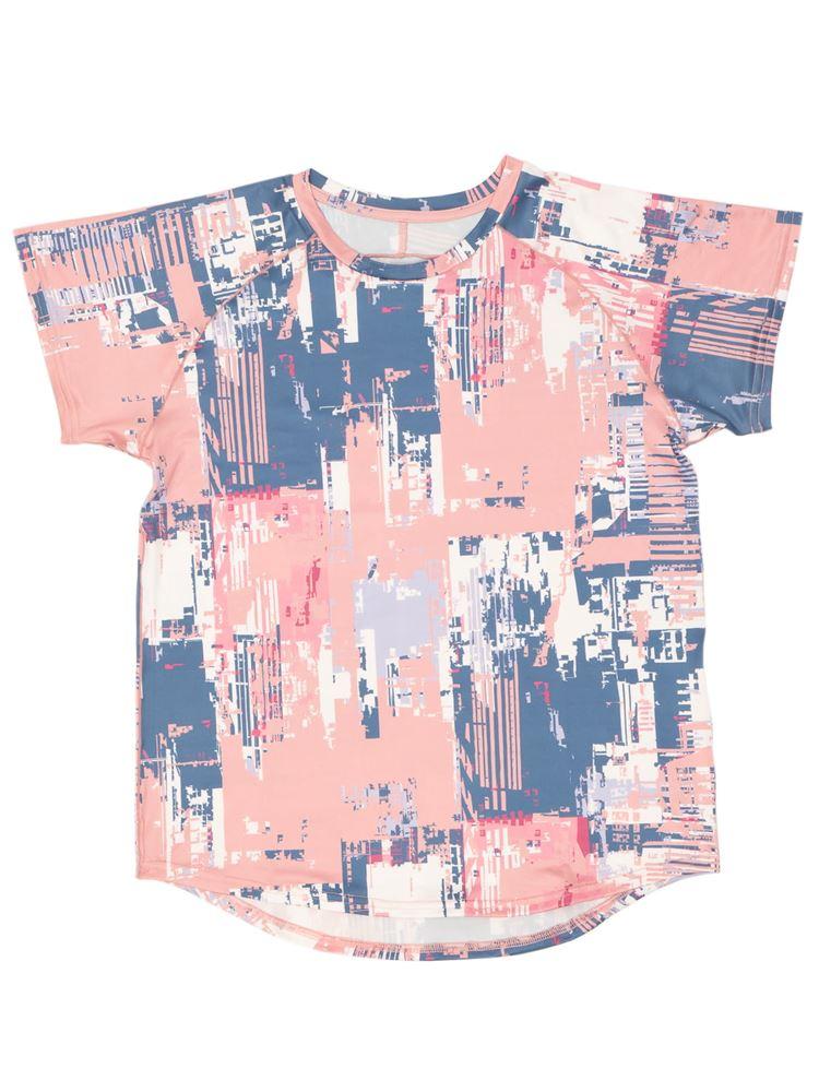 [スポーツ]幾何学ラグランTシャツ