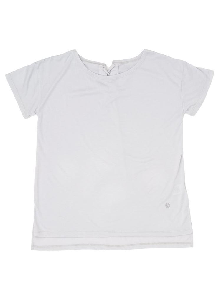 天竺レースアップTシャツ