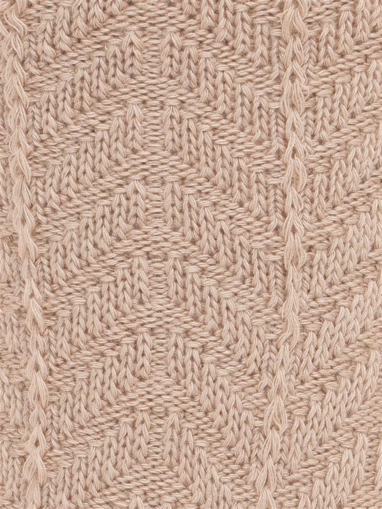 [レディライン]サイドヘリンボーン柄ソックス17cm丈
