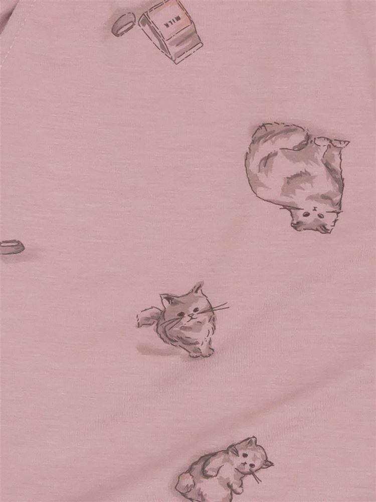 猫柄ベア天1分丈パンツ