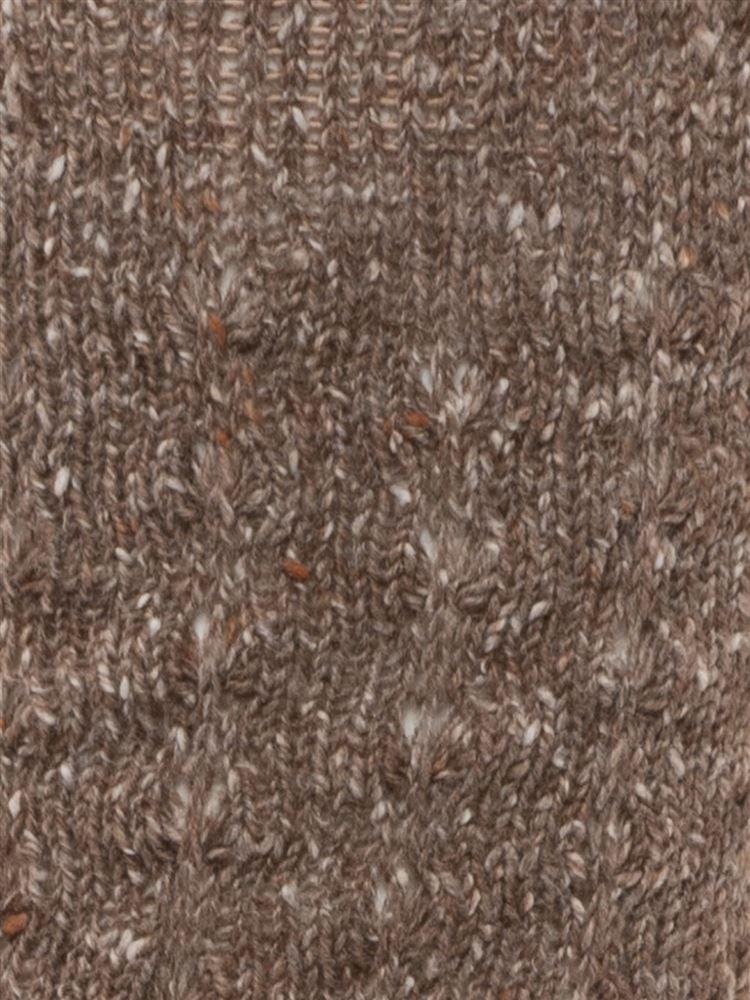 綿ネップ編みソックス25cm丈