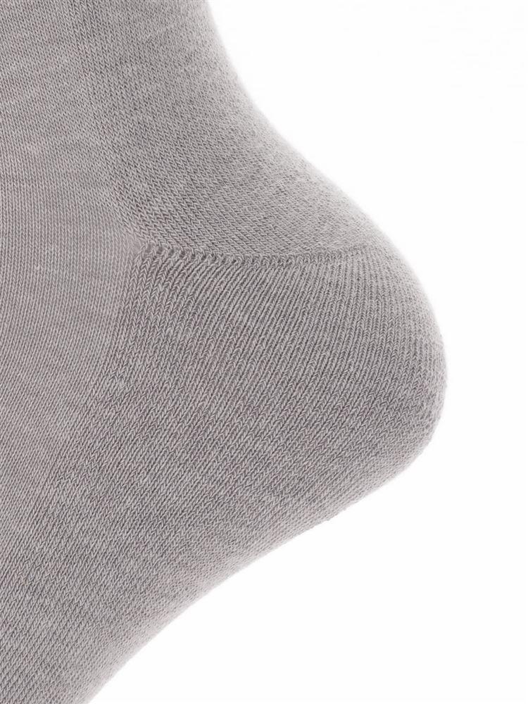 パイル編み直角ヒール綿混リブソックス13cm丈