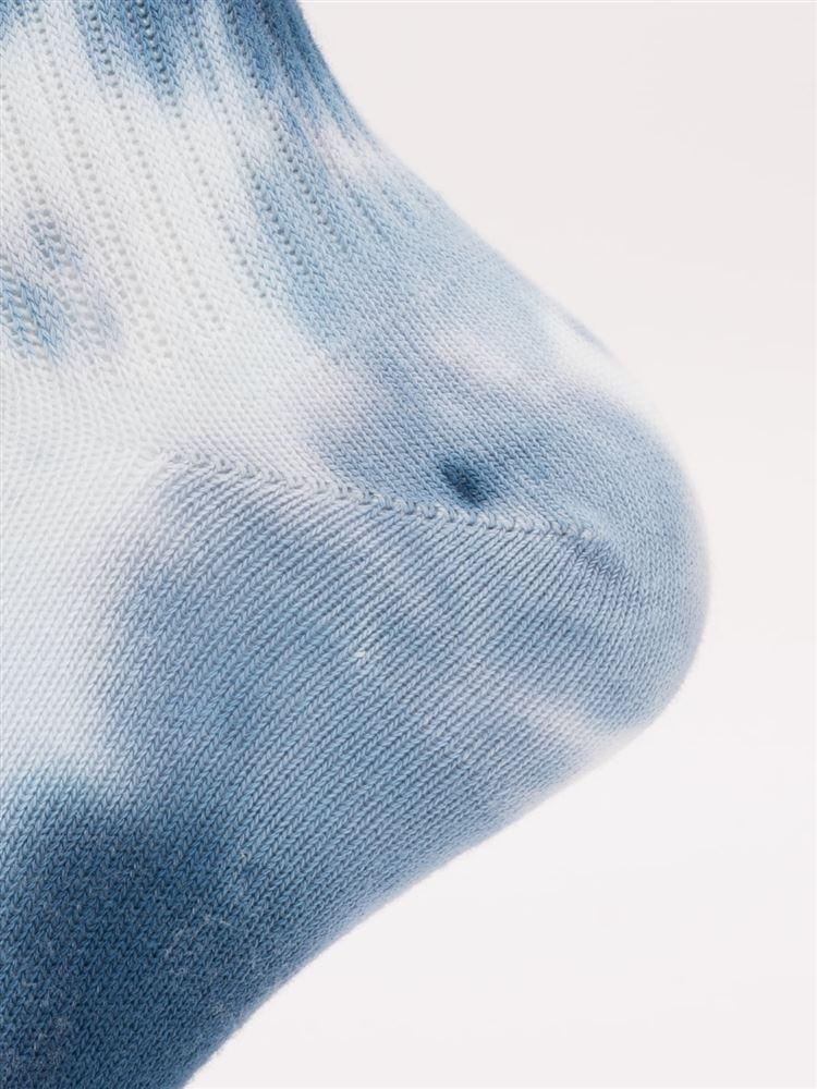 アメリブ綿混タイダイソックス10cm丈