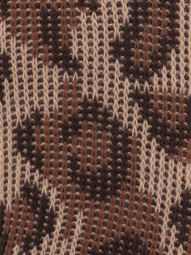 ヒョウ柄バックリボン付きソックス15cm丈
