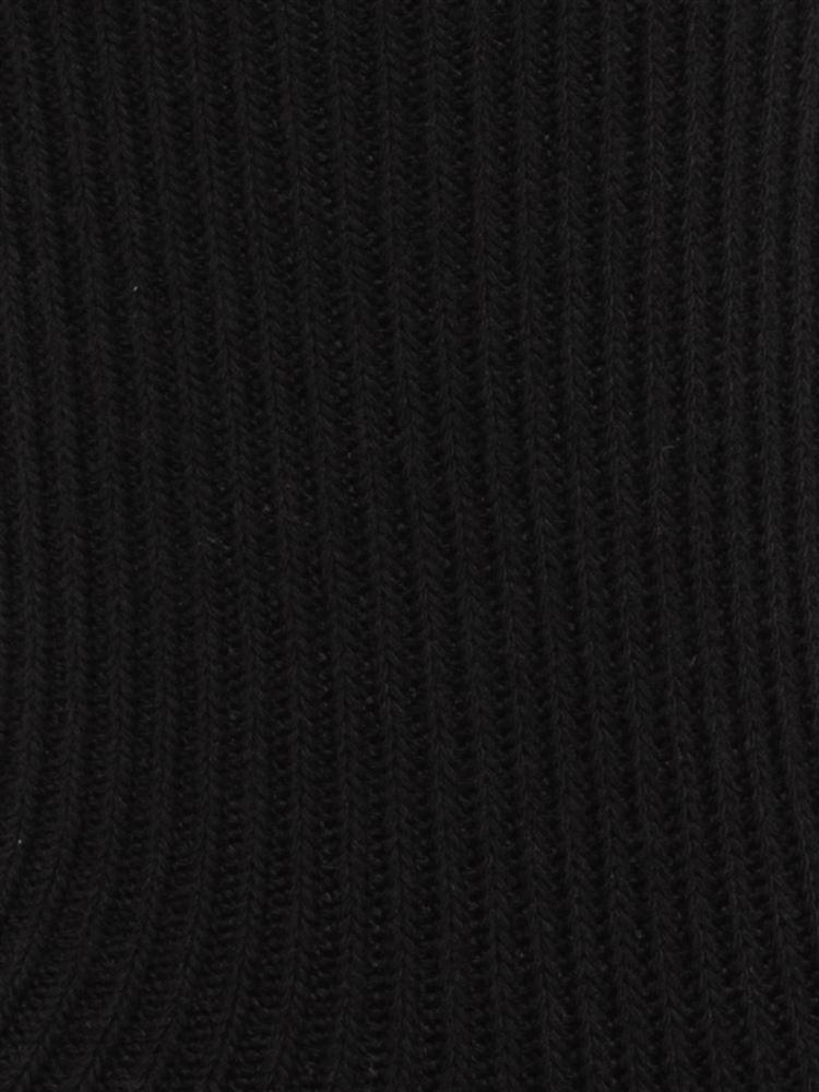 ベロアリボン付き綿混リブソックス14cm丈