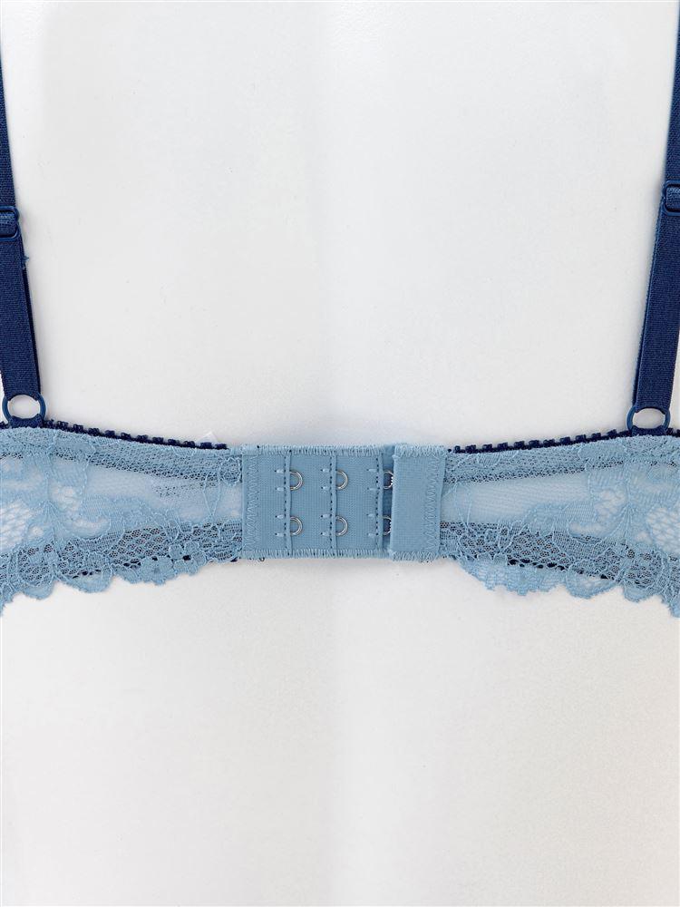 [すっぴんメイクブラ・盛る]単色刺繍ノンワイヤーブラ