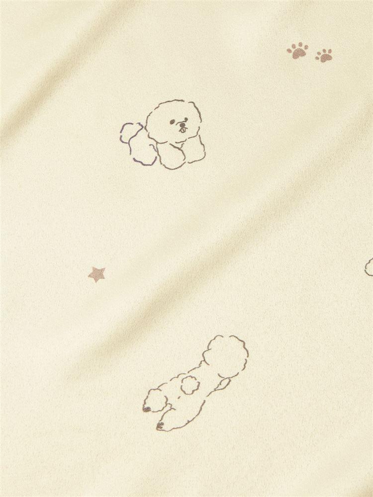 \橋下美好さん着用/ビッグカラー付きビション柄サテンパジャマ