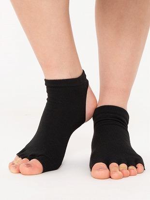 [スポーツ]指先踵なし5本指くるぶしソックス|