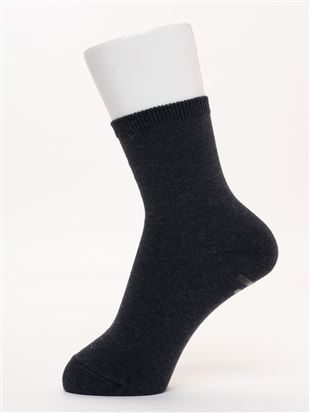 履き口ゆったり綿100%平無地ソックス14cm丈|クルーソックス