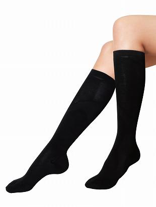[健康と美キュキュすらっと]脚シェイプハイソックス【綿タイプ】|ハイソックス