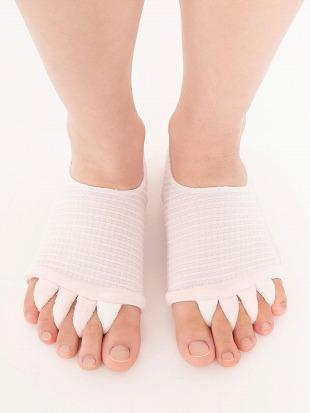[健康と美]足ゆび解放足底クッション付きソックス|