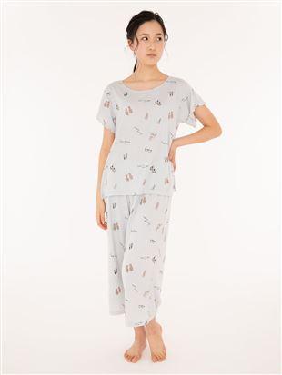 サマーバカンス柄天竺半袖パジャマ|パジャマ