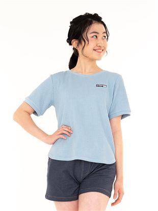 ワッフルロゴTシャツ|トップス