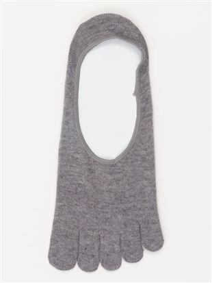 [メンズ]綿混デオドラント5本指深履きカバーソックス|メンズソックス