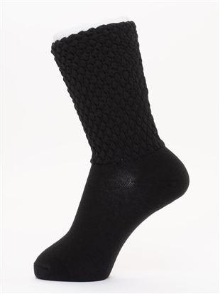 履き口ゆったりソックス18cm丈|クルーソックス