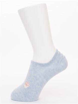 肉球刺繍綿混ローカットくるぶしソックス|スニーカー(くるぶし)ソックス