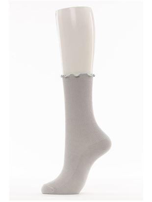 メロー細リブソックス22cm丈|クルーソックス
