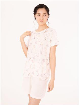 パイル女の子モチーフ柄半袖パジャマ|パジャマ