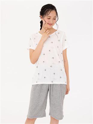 パイル白くま柄半袖パジャマ|